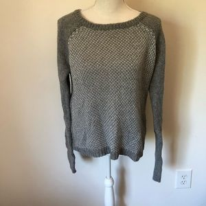 Girl's GILLY HICKS Long Sleeve Gray Sweater  Sz L